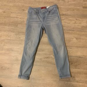 Guess light blue low rise jeans